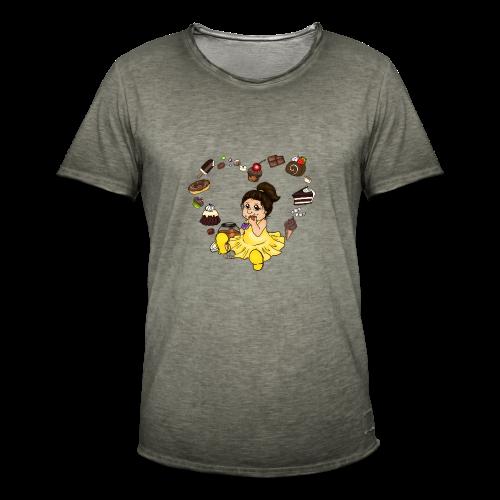 Schokoline, die Naschkatze - Männer Vintage T-Shirt