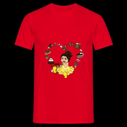 Schokoline, die Naschkatze - Männer T-Shirt