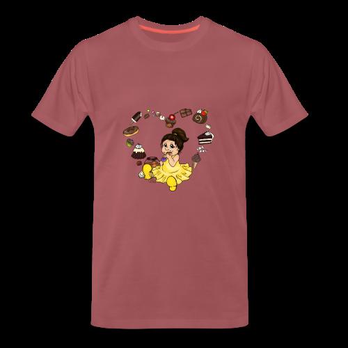 Schokoline, die Naschkatze - Männer Premium T-Shirt