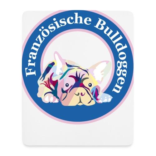 Französische Bulldoggen Buttons - Mousepad (Hochformat)