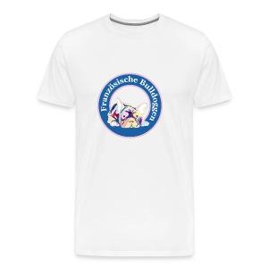 Französische Bulldoggen Buttons - Männer Premium T-Shirt