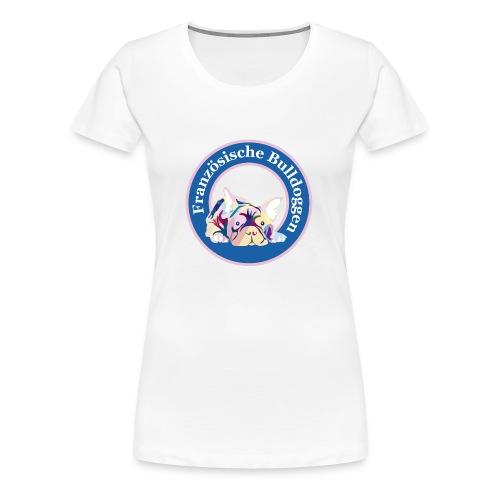 Französische Bulldoggen Buttons - Frauen Premium T-Shirt