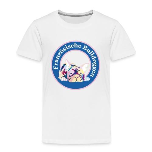 Französische Bulldoggen Buttons - Kinder Premium T-Shirt