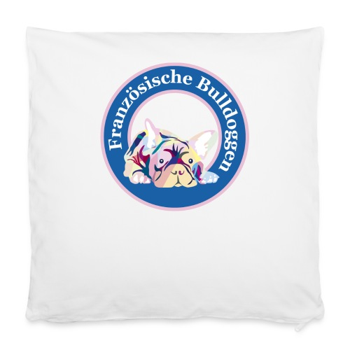 Französische Bulldoggen Buttons - Kissenbezug 40 x 40 cm