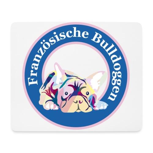 Französische Bulldoggen Buttons - Mousepad (Querformat)