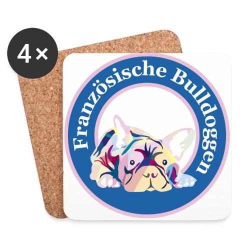 Französische Bulldoggen Buttons - Untersetzer (4er-Set)