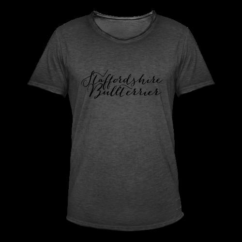 Staffordshire Bullterrier Kapuzen Sweater - Männer Vintage T-Shirt
