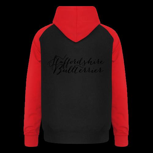 Staffordshire Bullterrier Kapuzen Sweater - Unisex Baseball Hoodie