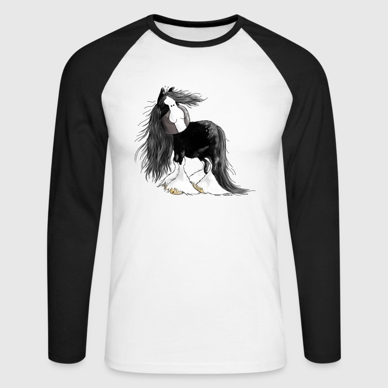 Shire Horse - Gentle Giant - Cartoon - Men's Long Sleeve Baseball T-Shirt