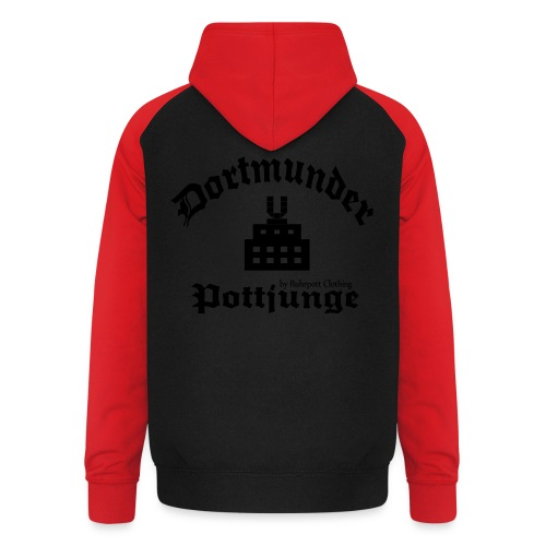 Dortmunder - Pottjunge - Dortmunder U - T-Shirt - Unisex Baseball Hoodie