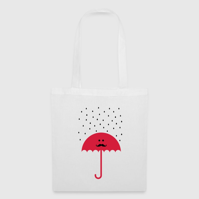 Umbrella Moustache Bags & backpacks - Tote Bag