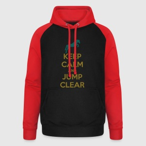 Keep Calm and Jump Clear Horse Design T-shirts - Unisex baseball hoodie
