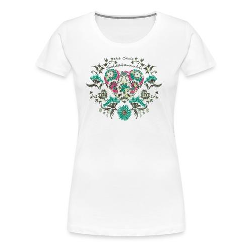 Mit Stolz Soldatenmutti Bioshirt - Frauen Premium T-Shirt