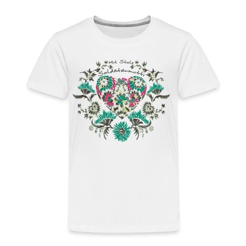 Mit Stolz Soldatenmutti Bioshirt - Kinder Premium T-Shirt