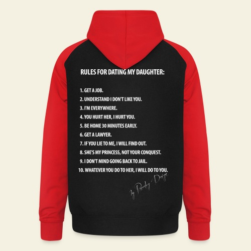 Dating my daughter! - Unisex baseball hoodie