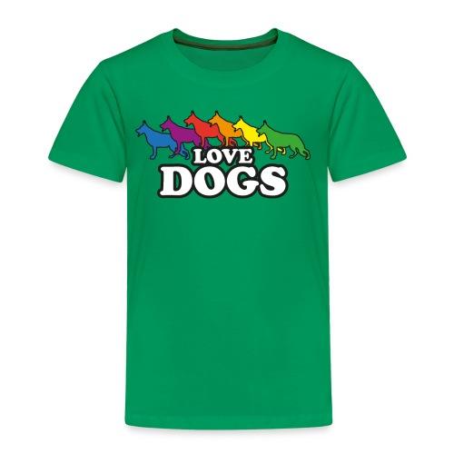 Love Dogs - Kinder Premium T-Shirt
