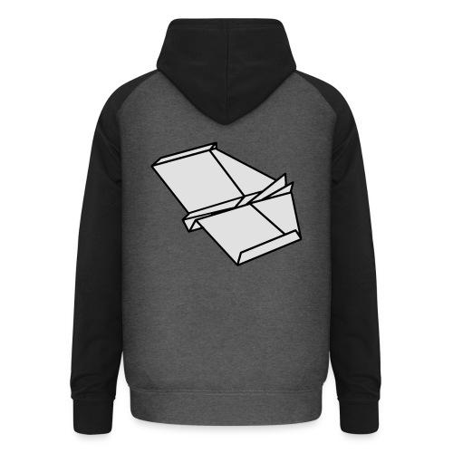 Origami Papierflieger Taschen & Rucksäcke - Unisex Baseball Hoodie