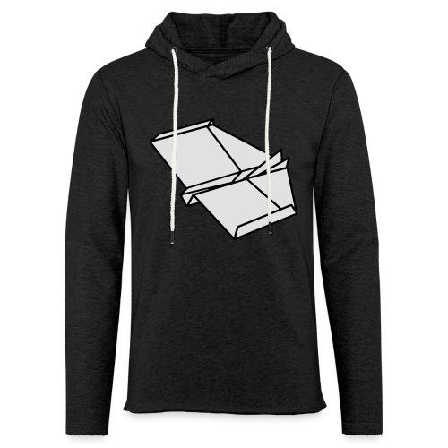 Origami Papierflieger Taschen & Rucksäcke - Leichtes Kapuzensweatshirt Unisex