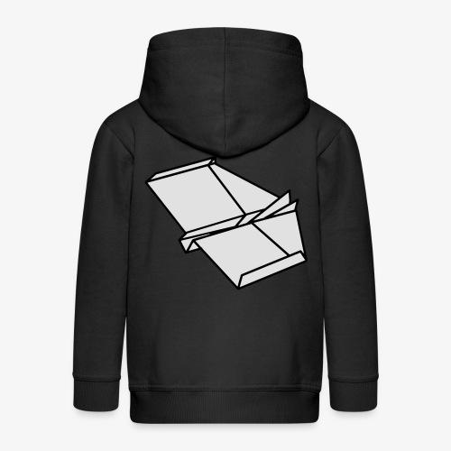 Origami Papierflieger Taschen & Rucksäcke - Kinder Premium Kapuzenjacke