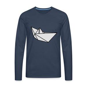 Origami Papierflieger Taschen & Rucksäcke - Männer Premium Langarmshirt