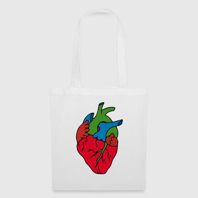 Coeur d'amour J'aime organe vasculaire - Tote Bag