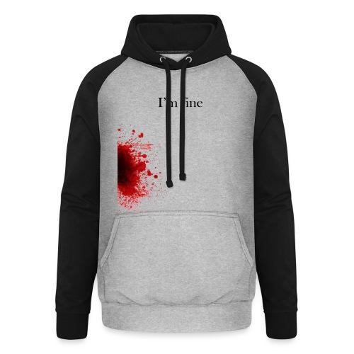 Zombie Terror War Shirt - I'm fine T-Shirts - Unisex Baseball Hoodie