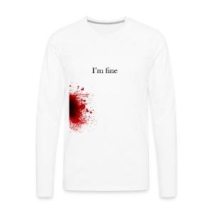 Zombie Terror War Shirt - I'm fine T-Shirts - Männer Premium Langarmshirt