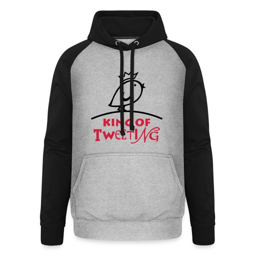 TWEETLERCOOLS king of tweeting - Unisex Baseball Hoodie