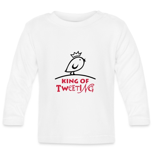 TWEETLERCOOLS king of tweeting - Baby Langarmshirt
