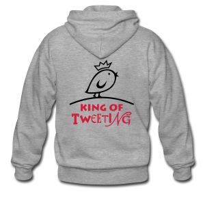 TWEETLERCOOLS king of tweeting - Männer Premium Kapuzenjacke
