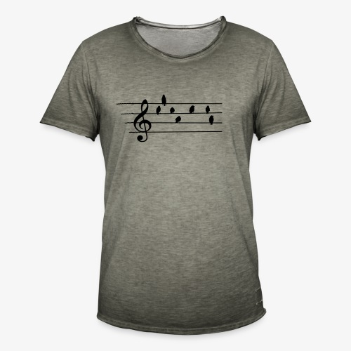 Music - Treble Clef - birds as notes   Hoodies - Männer Vintage T-Shirt