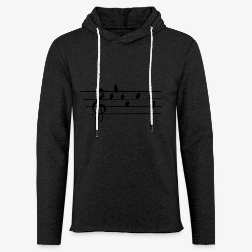 Music - Treble Clef - birds as notes   Hoodies - Leichtes Kapuzensweatshirt Unisex