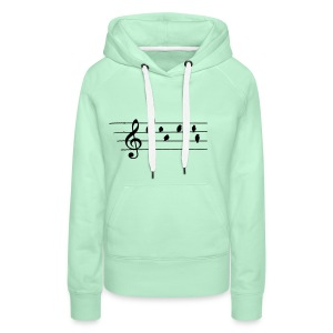 Music - Treble Clef - birds as notes   Hoodies - Frauen Premium Hoodie