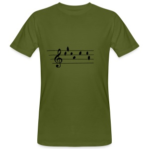 Music - Treble Clef - birds as notes   Hoodies - Männer Bio-T-Shirt