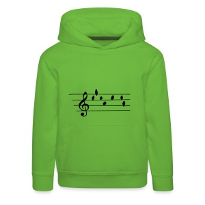 Music - Treble Clef - birds as notes   Hoodies - Kinder Premium Hoodie
