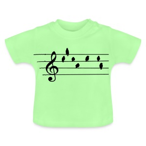 Music - Treble Clef - birds as notes   Hoodies - Baby T-Shirt