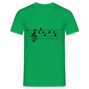 Music - Treble Clef - birds as notes   Hoodies - Männer T-Shirt