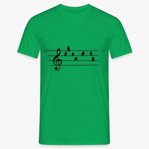 Music - Treble Clef - birds as notes   Hoodies - Männer T-Shirt