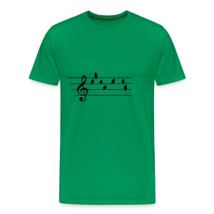 Music - Treble Clef - birds as notes   Hoodies - Männer Premium T-Shirt