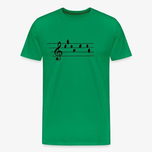 Music - Treble Clef - birds as notes   Hoodies - Männer Premium T-Shirt