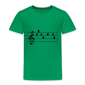 Music - Treble Clef - birds as notes   Hoodies - Kinder Premium T-Shirt