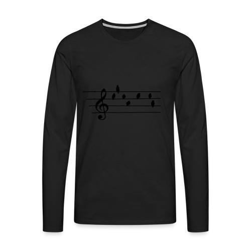 Music - Treble Clef - birds as notes   Hoodies - Männer Premium Langarmshirt