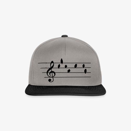 Music - Treble Clef - birds as notes   Hoodies - Snapback Cap