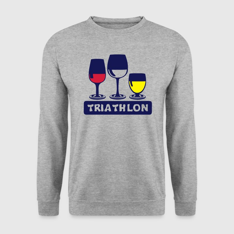 triathlon aclool verre apero humour Sweat-shirts - Sweat-shirt Homme