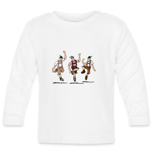 Grillschürze Lederhosen Schuhplattler - Baby Langarmshirt