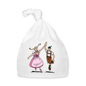 Bierkrug Oktoberfest Tanzpaar Lederhosen Dirndl - Baby Mütze