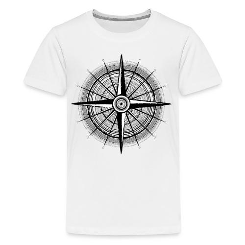 Vintage Kompass - Teenager Premium T-Shirt