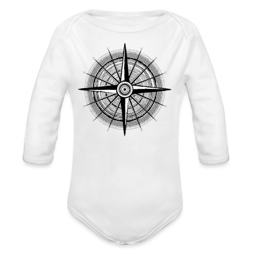 Vintage Kompass - Baby Bio-Langarm-Body