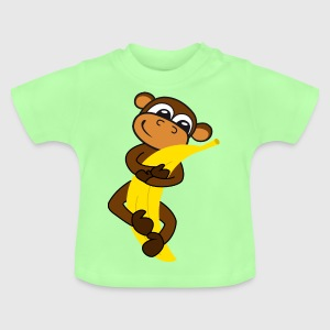 Monkey with banana Shirts - Baby T-Shirt