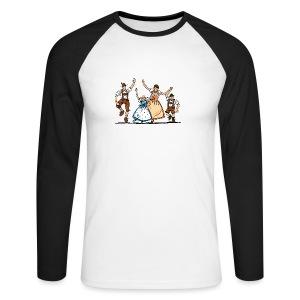 Bierkrug Oktoberfest Fröhliche Familie - Männer Baseballshirt langarm